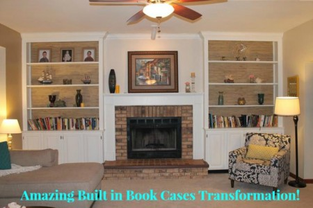 built in bookcases transformation