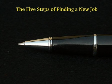five steps of finding a new job